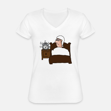 Grumpy In The Morning Morning muffle | Alarm clock || Good morning Get up - Classic Women's V-Neck T-Shirt