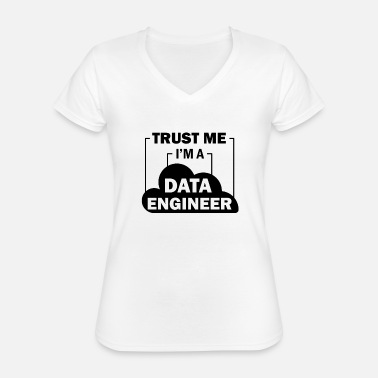 Data Preservation Data Engineer Data Science - Classic Women's V-Neck T-Shirt