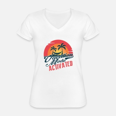 Spring Break Vacation Mode Activated - Classic Women's V-Neck T-Shirt
