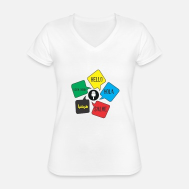 Languages - Classic Women's V-Neck T-Shirt