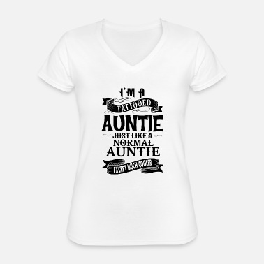 Auntie TATTOOED AUNTIE - Classic Women's V-Neck T-Shirt