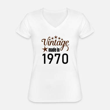 Made Vintage 1970 - Classic Women's V-Neck T-Shirt