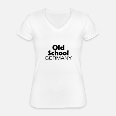 Patriot Old School Germany origin home gift - Classic Women's V-Neck T-Shirt