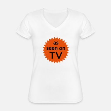 Tv As Seen On TV - Classic Women's V-Neck T-Shirt
