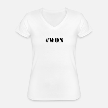 Won #WON - Classic Women's V-Neck T-Shirt