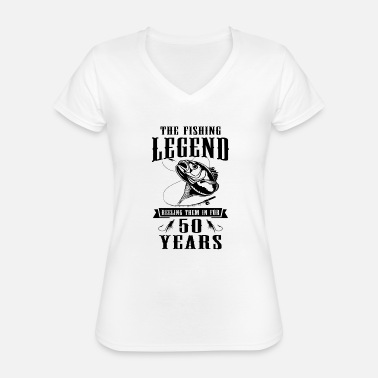 Reel The Fishing Legend Reeling Them In For 50 Years - Classic Women's V-Neck T-Shirt