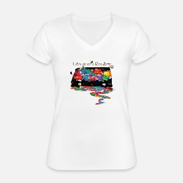 Trip Lets go on a road trip - Classic Women's V-Neck T-Shirt