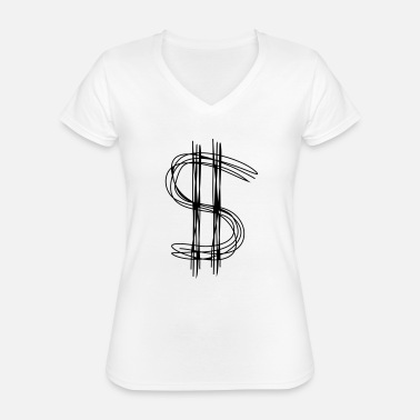 Dollar Dollar sign dollar - Classic Women's V-Neck T-Shirt