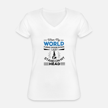 Allways in a good mood - Classic Women's V-Neck T-Shirt