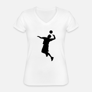 Volley Volley Sillhouette - Classic Women's V-Neck T-Shirt
