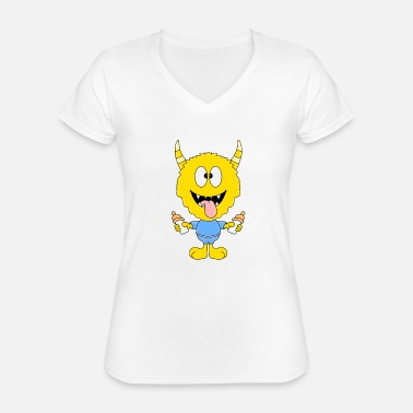 Vial Monster - vial - animal - children - comic - Classic Women's V-Neck T-Shirt