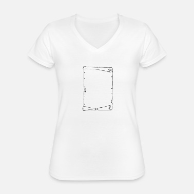 Miscellaneous Miscellaneous - Scroll - sw - Classic Women's V-Neck T-Shirt