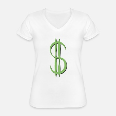 Dollar playful shadow - Classic Women's V-Neck T-Shirt