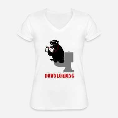 Download downloading - Classic Women's V-Neck T-Shirt