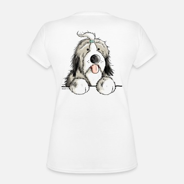 Bearded Collie Happy Bearded Collie - Classic Women's V-Neck T-Shirt