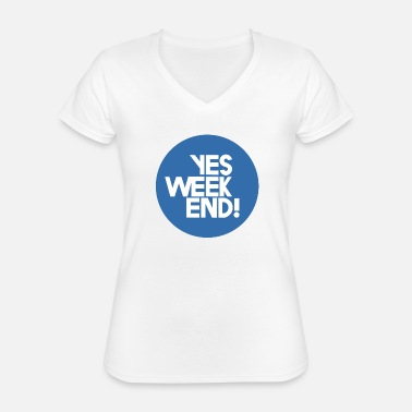 Yes Weekend - T-shirt classique col V Femme