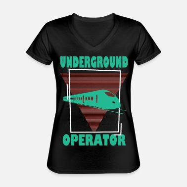 Underground UNDERGROUNDS, TRAINSPOTTING, UNDERGROUND OWNER - Classic Women's V-Neck T-Shirt
