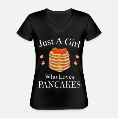 Sirop Just A Girl Who Loves Pancakes motif - T-shirt classique col V Femme