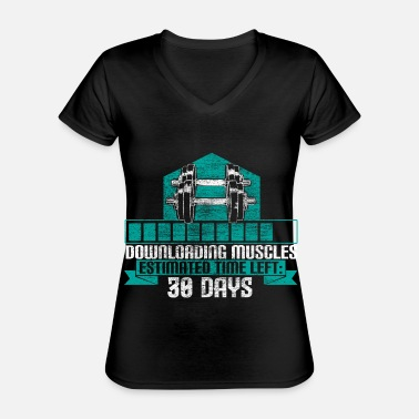Power Weight lifting bodybuilding - Classic Women's V-Neck T-Shirt