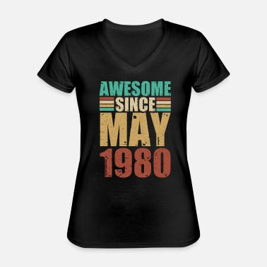May 1980 - Classic Women's V-Neck T-Shirt