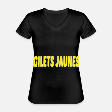 Yellow yellow vests yellow jackets yellow vest - Classic Women's V-Neck T-Shirt