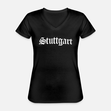 Stuttgart Stuttgart - capital of Stuttgart - Classic Women's V-Neck T-Shirt