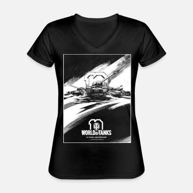 World of Tanks 10th Anniversary Poster - Classic Women's V-Neck T-Shirt