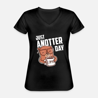 Just Just anotter day / day gift for Otter Lover - Classic Women's V-Neck T-Shirt