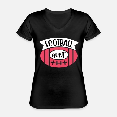 Bowling Football Aunt 01 - Classic Women's V-Neck T-Shirt