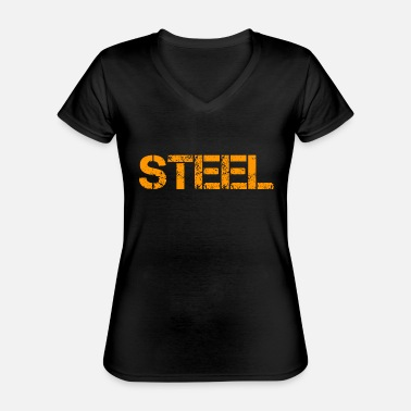 Steel Steel - Classic Women's V-Neck T-Shirt