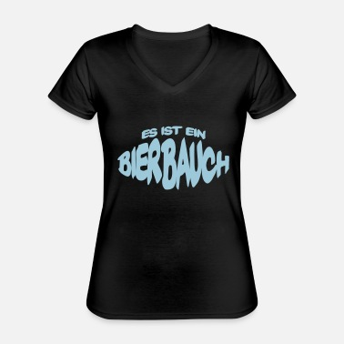 Beer Belly Beer belly - Classic Women's V-Neck T-Shirt