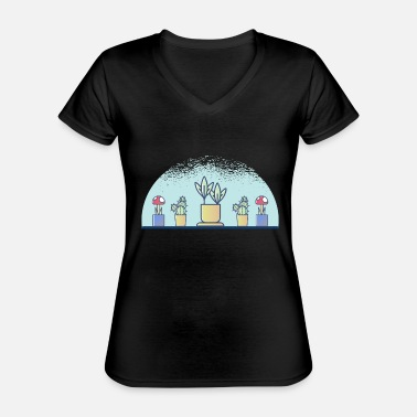 Plant plants - Classic Women's V-Neck T-Shirt