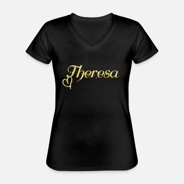 Name Day Theresa name first name women name day - Classic Women's V-Neck T-Shirt