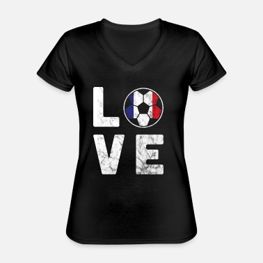 National France Football World Cup Love World Cup - Classic Women's V-Neck T-Shirt