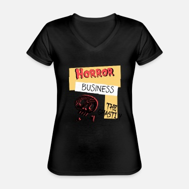 Ghastly Horror Business Halloween - Classic Women's V-Neck T-Shirt