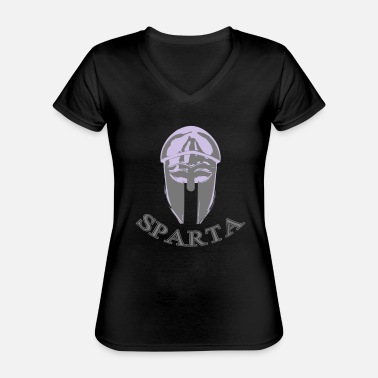 Helm sparta with helm - Classic Women's V-Neck T-Shirt
