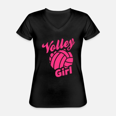 Volley volley girl - Classic Women's V-Neck T-Shirt