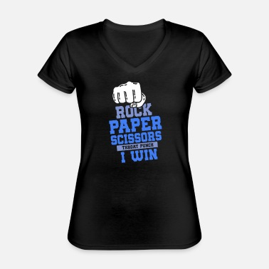 Rock Paper Scissors ROCK PAPER SCISSOR: Rock paper scissors - Classic Women's V-Neck T-Shirt