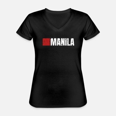 Money 00072 Casa Papel Manila white - Classic Women's V-Neck T-Shirt