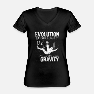 Darwin Evolution Darwin research science theory - Classic Women's V-Neck T-Shirt
