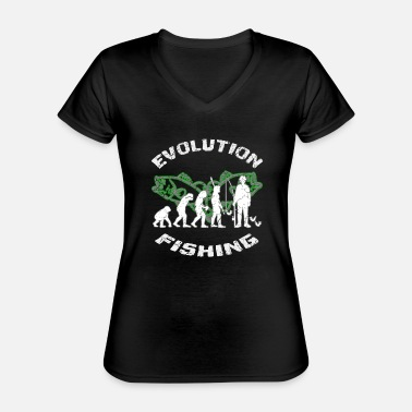 Darwin Darwin's evolution of fishing used look - Classic Women's V-Neck T-Shirt
