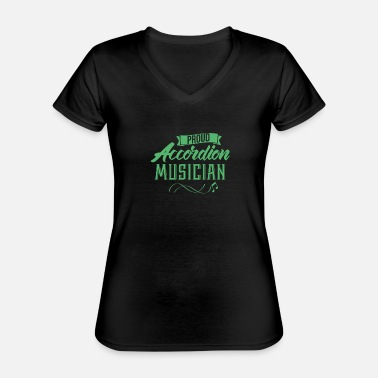 Accordion Accordion Accordion Accordion Accordion - Classic Women's V-Neck T-Shirt