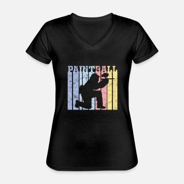 Paintball Paintball tournament paintball - Classic Women's V-Neck T-Shirt