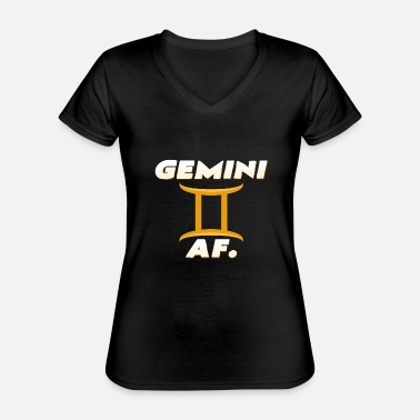 Horoscope Gemini AF. - Classic Women's V-Neck T-Shirt