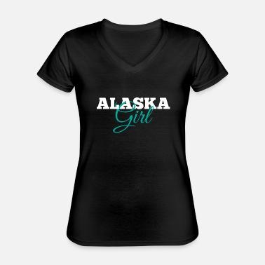 Alaska text V-Neck T-Shirt