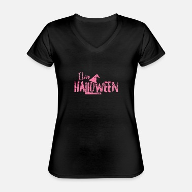 Zombie Custom Pumpkin Halloween Costumes Creepy - Classic Women's V-Neck T-Shirt