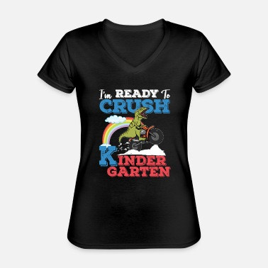 I'm Ready To Crush Kindergarten product T Rex - Classic Women's V-Neck T-Shirt