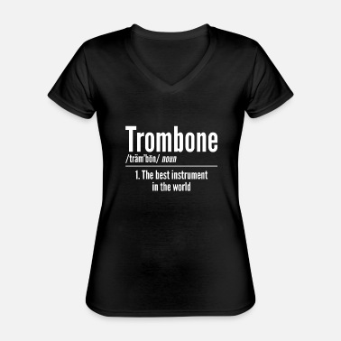 Instrument trombone - Classic Women's V-Neck T-Shirt
