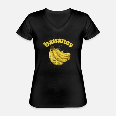 Strawberry Bananas - Classic Women's V-Neck T-Shirt