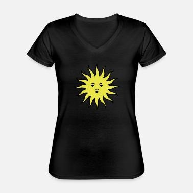 Heat sun - Classic Women's V-Neck T-Shirt